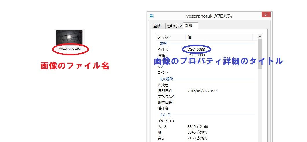 WPアップロード前の画像のファイル名とプロパティのタイトル